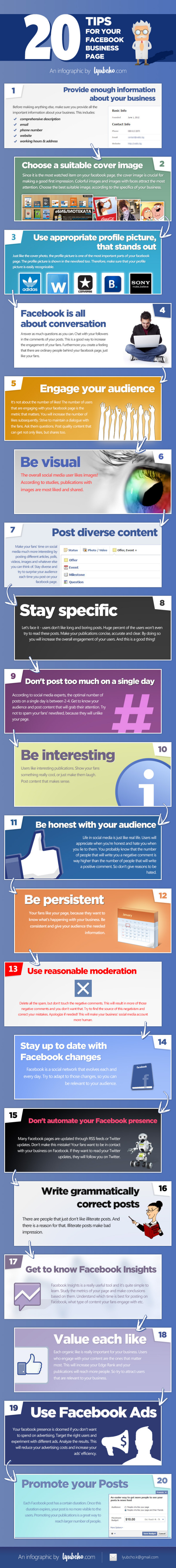 infographic : 20 Essential Tips For Facebook Business Page