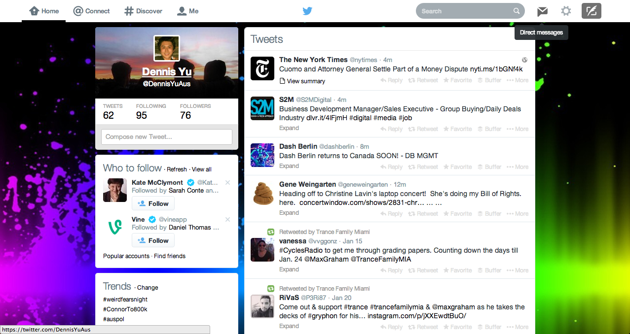 Twitter Home Page The Image Kid Has It